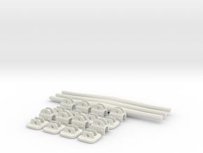 1.6 PATIN ANTI ENLISEMENT EC 145  SUPPORTS in White Natural Versatile Plastic