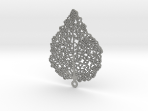 Leaf Skeleton Earring in Metallic Plastic