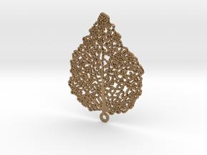 Leaf Skeleton Earring in Natural Brass