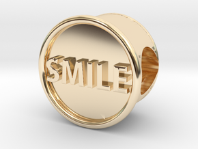 Smile Bead with Smiley Face in 14K Yellow Gold