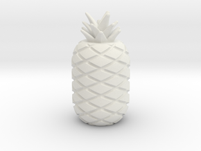 PP Apple Pen cap in White Natural Versatile Plastic