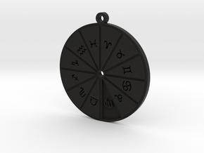 Virgo - Zodiac Pendant in Black Premium Versatile Plastic