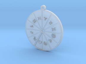 Libra - Zodiac Pendant in Smoothest Fine Detail Plastic