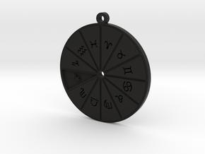 Sagittarius - Zodiac Pendant in Black Premium Versatile Plastic