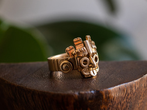 Aztec Ring in Polished Bronze: 9 / 59