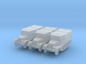 Sdkfz 11 (covered) (x3) 1/200 in Smooth Fine Detail Plastic