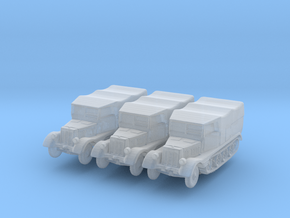 Sdkfz 11 (covered) (x3) 1/285 in Smooth Fine Detail Plastic