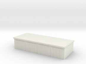 4 Slots Garage 1/48 in White Natural Versatile Plastic