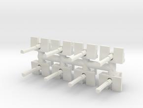 50cal MG Flat Shield (x8) 1/100 in White Natural Versatile Plastic