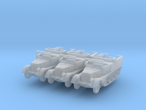 Sdkfz 11 (open) (window up) (x3) 1/220 in Smooth Fine Detail Plastic