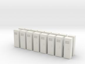 Locker (x16) 1/144 in White Natural Versatile Plastic