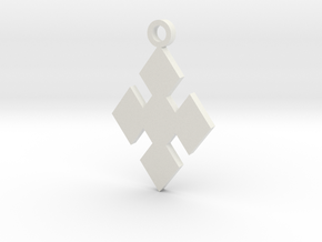 Cosplay Charm - Diamonds in White Natural Versatile Plastic