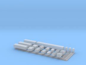 1:700 Scale Russian Garages in Smooth Fine Detail Plastic