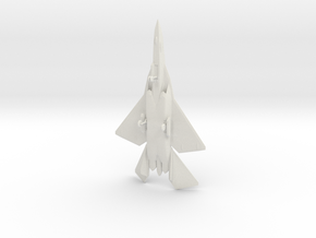 F/A-44E Aruval Stealth Fighter w/Landing Gear in White Natural Versatile Plastic: 1:200