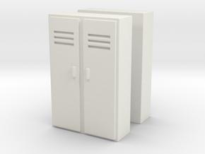 Double Locker (x2) 1/87 in White Natural Versatile Plastic