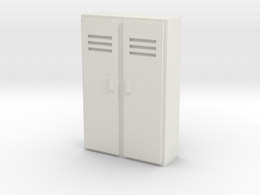 Double Locker 1/43 in White Natural Versatile Plastic