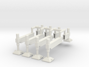 MS-70 Schiebeträger in White Natural Versatile Plastic: 1:87 - HO