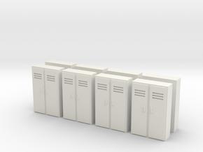 Double Locker (x8) 1/144 in White Natural Versatile Plastic