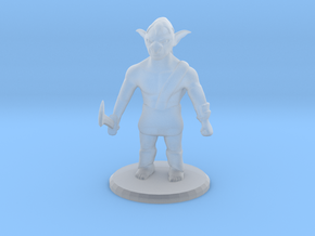 D&D Goblin Mini in Smooth Fine Detail Plastic: Small