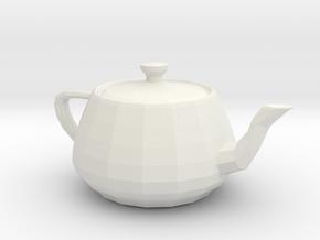 Utah teapot 3d in White Natural Versatile Plastic