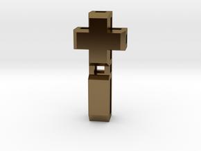 Realist cross in Polished Bronze