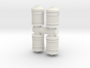 Garbage Can (x4) 1/43 in White Natural Versatile Plastic