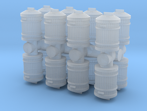 Garbage Can (x16) 1/120 in Smooth Fine Detail Plastic