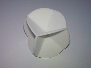 DRAW geo - sphere 06 cut outs in White Natural Versatile Plastic