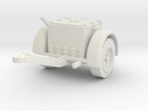 German Ammo Limber 1/76 in White Natural Versatile Plastic
