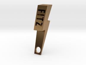 Personalize-able Lightning Bolt Bottle Opener in Natural Brass