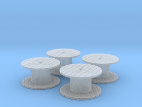 Cable Spool (x4) 1/144 in Smooth Fine Detail Plastic