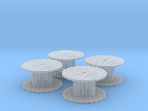 Cable Spool (x4) 1/160 in Smooth Fine Detail Plastic