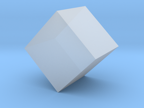 Cube Geometry - Platonic Solid - 1in in Smooth Fine Detail Plastic