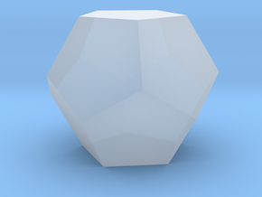 Dodecahedron 1 inch - Platonic Solid in Smooth Fine Detail Plastic