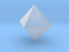 Octahedron 1 inch - Platonic Solid in Smooth Fine Detail Plastic