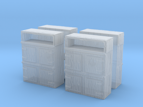 Wooden Cabinet (x4) 1/144 in Smooth Fine Detail Plastic
