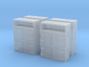Wooden Cabinet (x4) 1/160 in Smooth Fine Detail Plastic