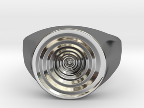 Whirlpool Ring in Fine Detail Polished Silver: 7 / 54