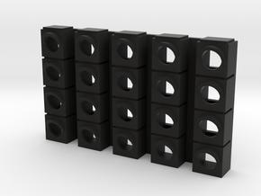 Starting Traffic Light  - Front panel (v.1) in Black Natural Versatile Plastic: 1:24