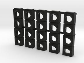 Starting Traffic Light - Front panel (v.2) in Black Natural Versatile Plastic: 1:24