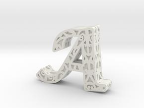 A in White Natural Versatile Plastic