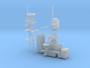 1/600 USS Nevada (1941) Superstructure in Smooth Fine Detail Plastic