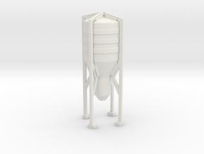 Grain Silo 1/160 in White Natural Versatile Plastic