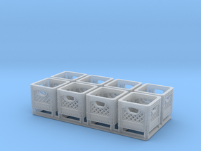 Plastic Crate 01. 1:24 Scale in Smooth Fine Detail Plastic