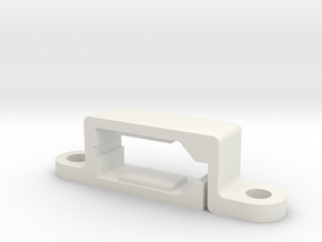 Socket XT60 Bracket in White Natural Versatile Plastic