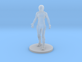 Sci-Fi Astronaut in Smooth Fine Detail Plastic