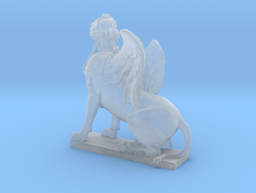 Greek Sphinx of Thebes and Oedipus  in Smooth Fine Detail Plastic: Medium