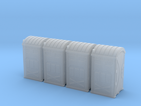 HO 1_87 Portable Toilet - Portaloo x 4 in Smooth Fine Detail Plastic