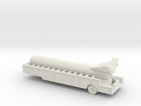1/72 Scale Redstone Trailer With Booster in White Natural Versatile Plastic
