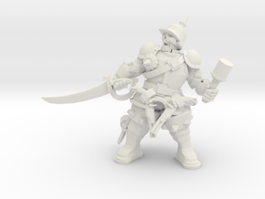 Character Series: Undead Officer in White Natural Versatile Plastic